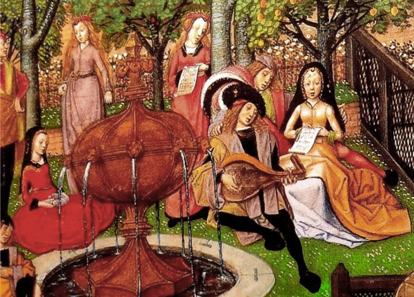Medieval lute and singers2